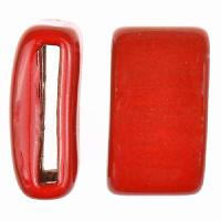 Clay River Porcelain Slider Flat 20mm Large - Red