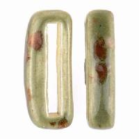 Clay River Porcelain Slider Flat 20mm Small - Green Agate