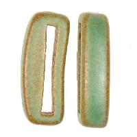 Clay River Porcelain Slider Flat 20mm Small - Patina Green