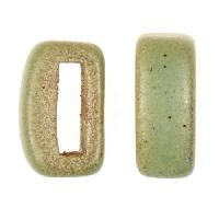 Clay River Porcelain Slider Flat 10mm Small- Patina Green