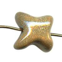 Kazuri Starfish Mini Ceramic Bead - Dinner Mustard