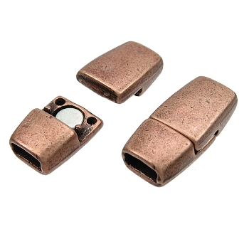 5mm Flat Tapered Leather Cord Magnetic Clasp - Antique Copper