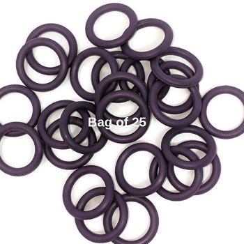 12mm Rubber O-Rings BAG of 25 - Amethyst