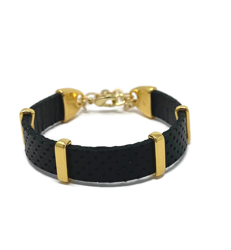 Black And Gold Chain Bracelet