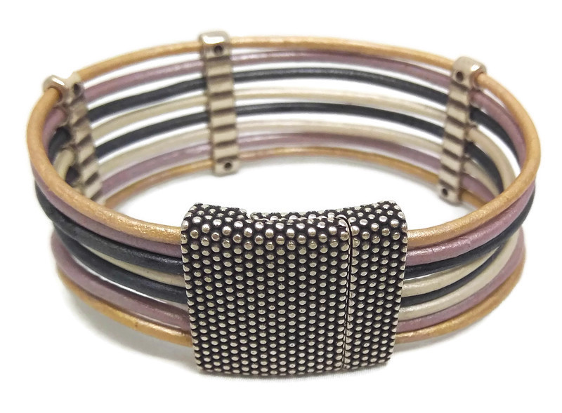 2mm Round Leather Bracelet