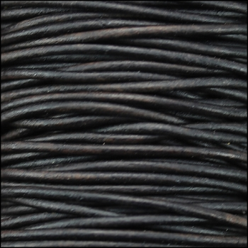 0.5mm Round Indian Leather Cord per 25M SPOOL - Dark Brown Natural Dye