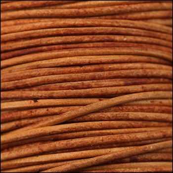 0.5mm Round Indian Leather Cord - Orange - per yard