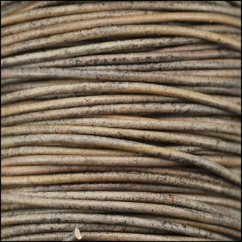 0.5mm Round Indian Leather Cord - Grey - per yard