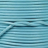 1mm Round Indian Leather Cord - Light Blue - per yard
