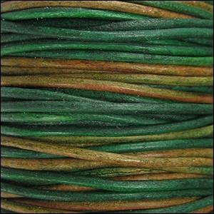 1.5mm Round Indian Leather Cord - Berol Natural Dye - per yard
