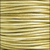 1.5mm Round Indian Leather Cord - Metallic Maina - per yard