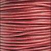 1.5mm Round Indian Leather Cord - Metallic Moroccan Red - per yard
