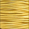 1.5mm Round Indian Leather Cord - Metallic Mustard - per yard