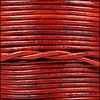1.5mm Round Indian Leather Cord - Natural Red