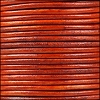 1.5mm Round Indian Leather Cord - Natural Orange - per yard