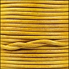 1.5mm Round Indian Leather Cord - Natural Mustard - per yard
