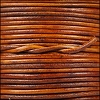 1.5mm Round Indian Leather Cord - Natural Light Brown