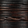 1.5mm Round Indian Leather Cord - Natural Dark Brown - per yard