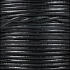 1.5mm Round Indian Leather Cord - Natural Espresso - per yard