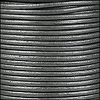 1mm Round Indian Leather Cord - Metallic Silver - per yard