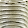 1.5mm Round Indian Leather Cord - Metallic Pale Cream - per yard