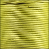1.5mm Round Indian Leather Cord - Metallic Yellow - per yard