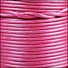 1.5mm Round Indian Leather Cord - Metallic Magenta - per yard