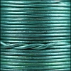 1.5mm Round Indian Leather Cord - Metallic Teal - per yard