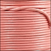 1mm Round Indian Leather Cord - Baby Pink - per yard