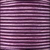 1.5mm Round Indian Leather Cord - Metallic Purple - per yard