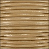 1mm Round Indian Leather Cord - Khaki - per yard