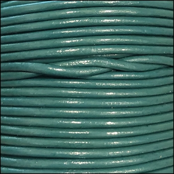 1.5mm Round Indian Leather Cord - Light Turquoise