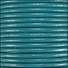 1mm Round Indian Leather Cord - Turquoise - per yard