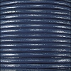1.5mm Round Indian Leather Cord - Navy