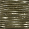 1.5mm Round Indian Leather Cord - Olive - per yard
