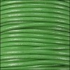 1.5mm Round Indian Leather Cord - Green - per yard