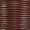 1.5mm Round Indian Leather Cord - Dark Brown - per yard