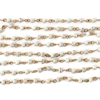 4MM Gemstone Howlite Beading Chain