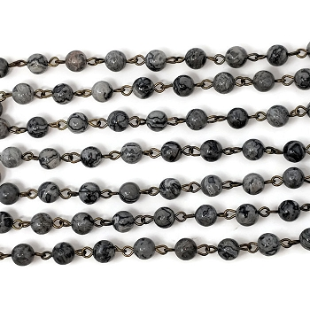 6MM Gemstone Natural Picasso Stone Beading Chain