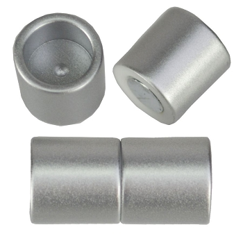 10mm round Acrylic magnet CYL MATTE SILVER