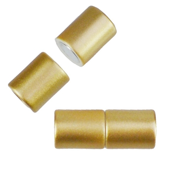 5mm round Acrylic magnet CYL MATTE GOLD