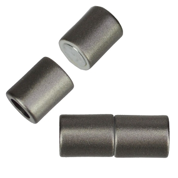 5mm round Acrylic magnet CYL MATTE GUNMETAL