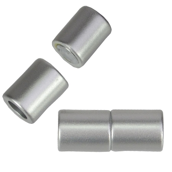 5mm round Acrylic magnet CYL MATTE SILVER