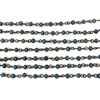 4MM Crystal Blue Beading Chain - per half strand
