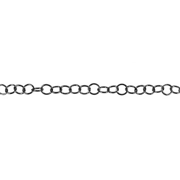 Medium Circle Chain - Gunmetal - per foot