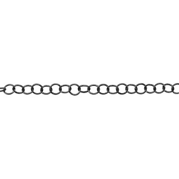 Medium Circle Chain - Matte Gunmetal