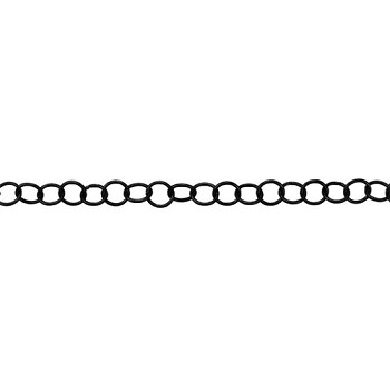Medium Circle Chain - Nite Black - per foot