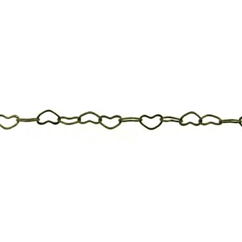 small heart chain ANT. BRASS