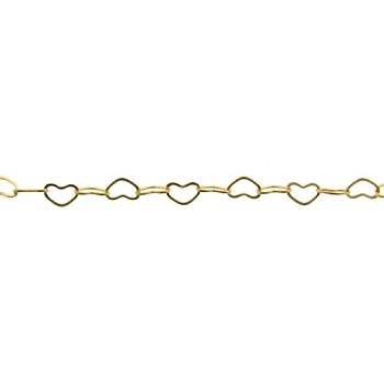 small heart chain GOLD per foot