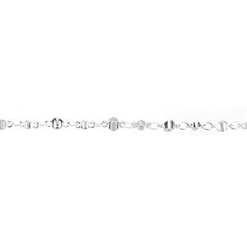 Moroccan Chain - Silver Plate per 50 Foot Spool